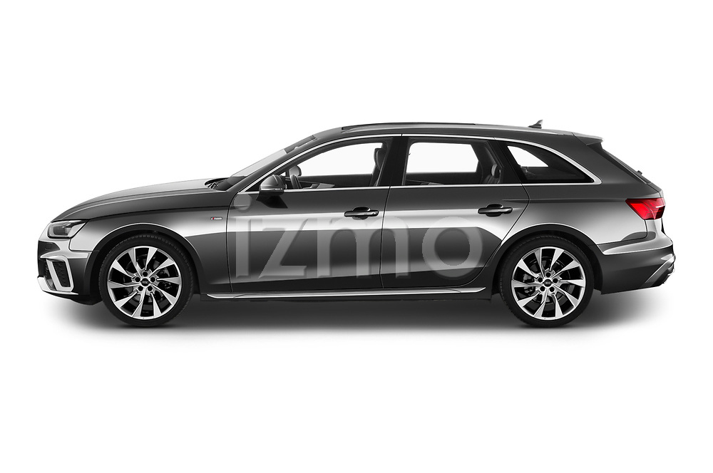 Car driver side profile view of a 2020 Audi A4 S-Line 5 Door Wagon