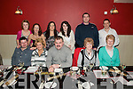 Belated Xmas Party : Staff from the Listowel Arms Hotel enjoying a belated Xmas party at Fitzgeralds Restaurant, Listowel on Sunday night. Front: Artur & Hanna Kwas, Stanistaw Woyewski, Betty Griffin & Bridie Carroll. Back: Eadaoin O'Hanlon, Annie Brown, Cathy Julian, Kerrie Connell, Peter Shepherd & Dan Brown..