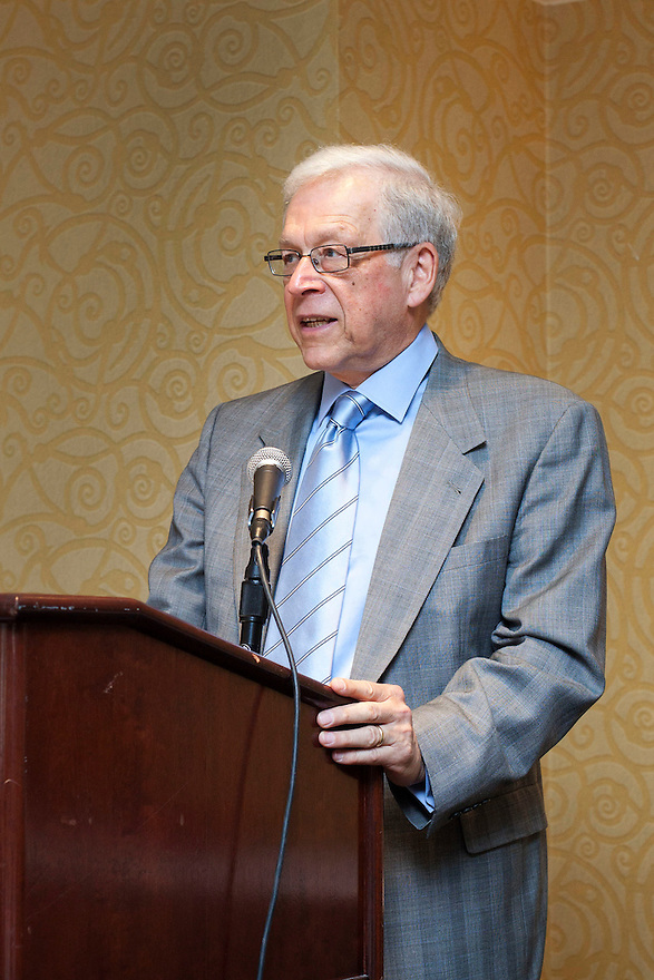 Bob Sessler introduces gold honoree LaVerne Gordon at the Older Volunteers Enrich America Awards at the Double Tree Hotel in Washington, DC on Friday, June 17, 2011.