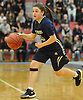 Jenna Annecchiarico #13 of Baldwin dribbles downcourt during the Class AA Long Island Championship against Commack at Suffolk County Community College Grant Campus in Brentwood on Thursday, March 8, 2018. Baldwin won by a score of 78-48.
