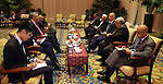 Palestinian Prime Minister Rami Hamdallah during a meeting after the Asian African Conference in Jakarta April 22, 2015. The 60th Asian-African Conference is held in Jakarta and Bandung from 19 to 24 April 2015. Photo by Prime Minister Office