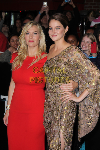WESTWOOD, CA - March 18: Kate Winslet, Shailene Woodley at the &quot;Divergent&quot; Los Angeles Premiere, Regency Bruin Theatre, Westwood,  March 18, 2014. <br /> CAP/MPI/JO<br /> &copy;Janice Ogata/MediaPunch/Capital Pictures