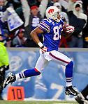9 December 2007: Buffalo Bills wide receiver Lee Evans catches a pass and runs it into the end zone for his second touchdown of the game against the Miami Dolphins at Ralph Wilson Stadium in Orchard Park, NY. The Bills defeated the Dolphins 38-17. ..Mandatory Photo Credit: Ed Wolfstein Photo