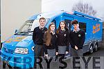 Gaelcholaiste TY Student on Radio Training Workshops on Monday were l-r,  Sean Ó Galbháin , Carie ni Dhubhlainn Caoimhanímh Ó Ragha, Gearoid O Beolain