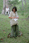 Rachel Hughes Observing Toque Macaques