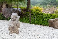 Nanjing, Jiangsu, China.  Sculpture in Gardens of the Usnisa Palace, Niushou Mountain.
