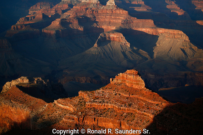 Grand Canyon vista at sundown<br /> (2)