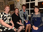 Marion Flanagan, Nora Gosling, Carmel Finnegan and Olive Hickey pictured at the Ardee Traders Annual Awards dinner at Darver Castle. Photo:Colin Bell/pressphotos.ie