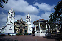 The Plaza de la Independencia in Casco Viejo, the oldest neighbourhood in Panama City, Panama
