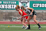 San Diego, CA 05/21/11 - Chandler Ramsey (Cathedral Catholic #14) and Rachel Brennan (Coronado #22) in action during the 2011 CIF San Diego Division 2 Girls lacrosse finals between Cathedral Catholic and Coronado.