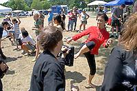 Members of Kuk Sool Won school teach martial arts. Dragon Festival Lake Phalen Park St Paul Minnesota USA