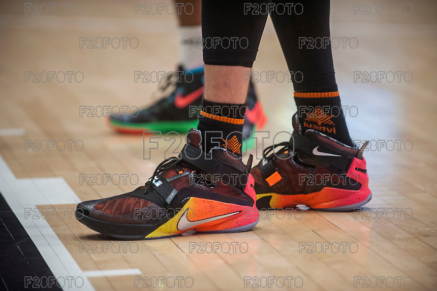 VALENCIA, SPAIN - December 2: Player trainers during EUROCUP match between Valencia Basket Club and Ratiopharm ULM at Fonteta Stadium on December 2, 2015