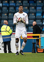 Goalkeeper Jamal Blackman of Wycombe Wanderers (on loan from Chelsea) during the Sky Bet League 2 match between Wycombe Wanderers and Blackpool at Adams Park, High Wycombe, England on the 11th March 2017. Photo by Liam McAvoy.
