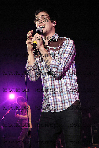 Panic! at the Disco - vocalist Brendon Urie - performing live on the Decaydance Tour at the Apollo Hammersmith, London UK - 22 Aug 2007.  Photo credit: George Chin/IconicPix