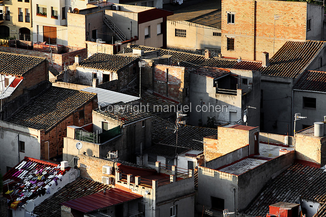 Jewish Quarter of Tortosa, Tarragona, Spain, seen from the Avanzadas de San Juan (walls). Labyrinth of narrow streets and quaint squares with wells in the middle, this urban area has remained almost untouched throughout the ages. Picture by Manuel Cohen