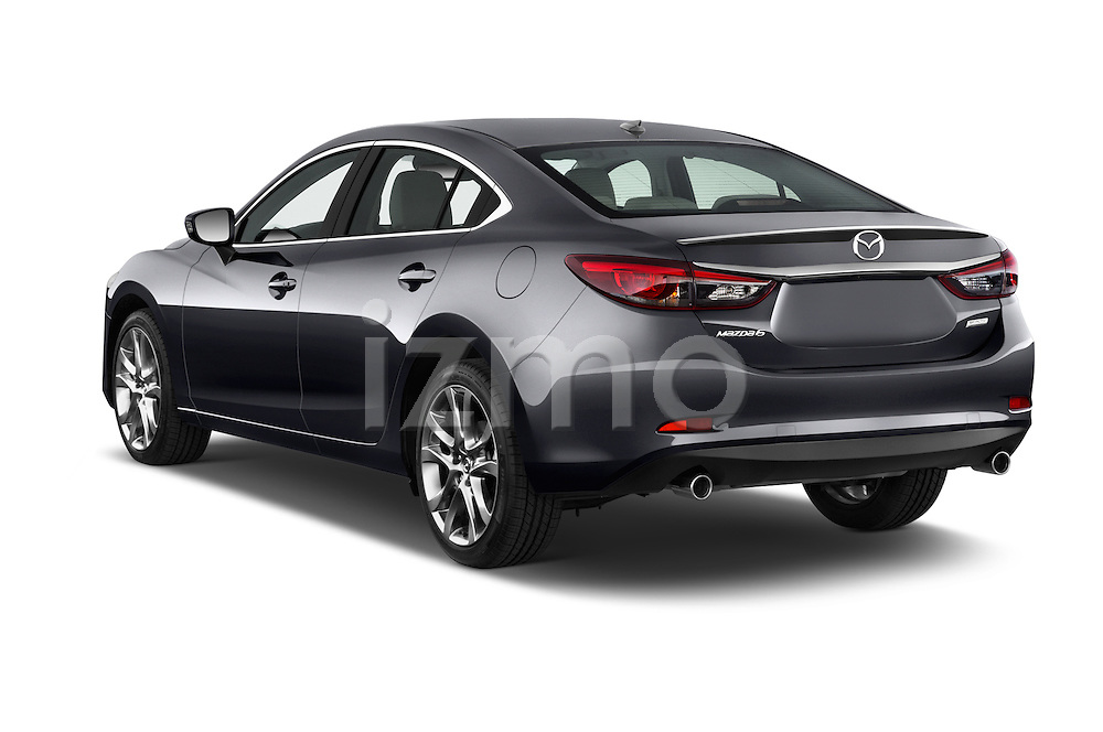 Car pictures of rear three quarter view of a 2016 Mazda 6 i Grand Touring Auto 4 Door Sedan angular rear
