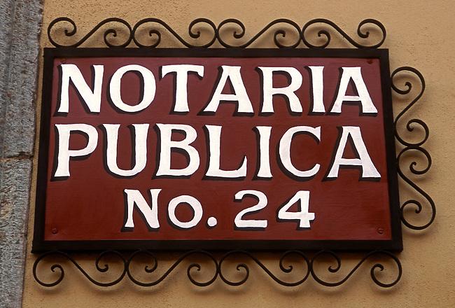 Notary public, Oaxaca, Oaxaca State, Mexico, North America