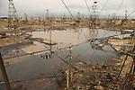 An oil field outside Baku, Azerbaijan on Saturday, Oct. 29, 2005.
