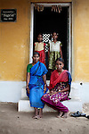CHENNAI, INDIA, JULY 2012: Perumayee with her 3 daughters, Priyanga, Crowry and Priya. the first two daughters she had they were killed but the mother in law because they want a boy..,july 2012 © Giulio Di Sturco