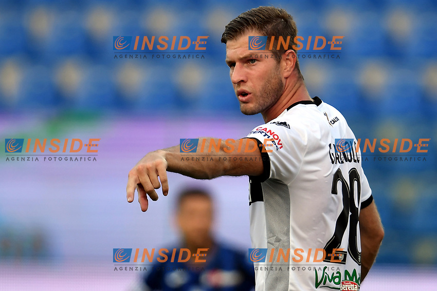 Riccardo Gagliolo of Parma reacts during the Serie A football match between Parma Calcio and Atalanta BC at Ennio Tardini stadium in Parma (Italy), July 28th, 2020. Play resumes behind closed doors following the outbreak of the coronavirus disease. Photo Andrea Staccioli / Insidefoto
