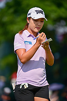 Lydia Ko (NZL) makes her way to the first tee after playing the back nine first during Thursday's first round of the 72nd U.S. Women's Open Championship, at Trump National Golf Club, Bedminster, New Jersey. 7/13/2017.<br /> Picture: Golffile | Ken Murray<br /> <br /> <br /> All photo usage must carry mandatory copyright credit (&copy; Golffile | Ken Murray)