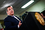 New Jersey Governor Chris Christie visits Keansburg