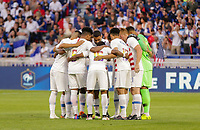 Lyon, France - Saturday June 09, 2018: USMNT starting eleven vs France during an international friendly match between the men's national teams of the United States (USA) and France (FRA) at Groupama Stadium.
