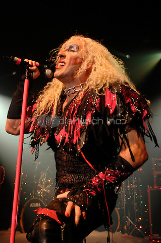 Twisted Sister (Dee Snider pictured) performing at Irving Plaza/The Fillmore in New York City on December 20, 2007. © David Atlas / MediaPunch