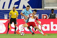 Harrison, NJ - Thursday Sept. 15, 2016: Felipe Martins, Rodolfo Zelaya during a CONCACAF Champions League match between the New York Red Bulls and Alianza FC at Red Bull Arena.