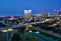 Another aerial capture of the Fort Worth skyline at the blue hour. Love the purple lights on the seventh street bridge which connects the University area with the downtown across the Trinity River. Fort Worth is the fifth largest city in Texas. Ft Worth is located in central north part of Texas and the county seat is Tarrant County. The latest census is that the population for Fort Worth is estimates, at around 854,113. The city is the second-largest in the Dallas–Fort Worth–Arlington metropolitan area or the DFW Metro