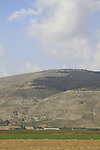 Israel, a view of Mount Gilboa from Harod Valley