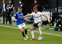 4th July 2020; Craven Cottage, London, England; English Championship Football, Fulham versus Birmingham City; Joe Bryan of Fulham marked by Daniel Crowley of Birmingham City