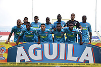 MONTERÍA - COLOMBIA ,04-11-2018:Formación   de Jaguares de Córdoba  ante el Rionegro durante partido por la fecha 18 de la Liga Águila II 2018 jugado en el estadio Municipal Jaraguay de Montería . / Team  Jaguares of Cordoba agaisnt of Rionegro  during the match for the date 18 of the Liga Aguila II 2018 played at Municipal Jaraguay Satdium in Monteria City . Photo: VizzorImage /Andrés Felipe López  / Contribuidor.