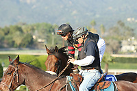 ARCADIA, CA  MARCH 11: #3 Shaman Ghost, ridden by Javier Castellano, in the post parade of the Santa Anita Handicap (Grade l) on March 11, 2017 at Santa Anita Park in Arcadia, CA (Photo by Casey Phillips/Eclipse Sportswire/Getty Images)