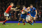17th March 2018, Principality Stadium, Cardiff, Wales; NatWest Six Nations rugby, Wales versus France; Gael Fickou of France is tackled by Scott Williams of Wales