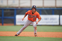 Baltimore Orioles Trevor Craport (59) leads off first base during a Florida Instructional League game against the Tampa Bay Rays on October 1, 2018 at the Charlotte Sports Park in Port Charlotte, Florida.  (Mike Janes/Four Seam Images)