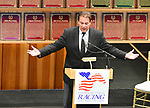 Scenes from the National Museum of Racing Hall of Fame ceremony (Kenny Rice) on August 03, 2018 at the Fasig-Tipton Sales Pavilion in Saratoga Springs, New York. (Bob Mayberger/Eclipse Sportswire)