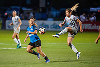 Kansas City, MO - Saturday July 22, 2017: Lo'eau Labonta, Mccall Zerboni during a regular season National Women's Soccer League (NWSL) match between FC Kansas City and the North Carolina Courage at Children's Mercy Victory Field.