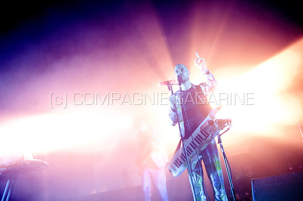 Concert of the Belgian electro band The Subs at the Crammerock festival (Belgium, 06/09/2014)