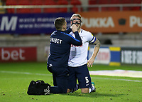 Preston North End's Tom Clarke receives treatment on the pitch after an apparent elbow<br /> <br /> Photographer David Shipman/CameraSport<br /> <br /> The EFL Sky Bet Championship - Rotherham United v Preston North End - Tuesday 1st January 2019 - New York Stadium - Rotherham<br /> <br /> World Copyright © 2019 CameraSport. All rights reserved. 43 Linden Ave. Countesthorpe. Leicester. England. LE8 5PG - Tel: +44 (0) 116 277 4147 - admin@camerasport.com - www.camerasport.com