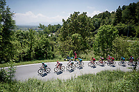 a big group of 25 riders makes the breakaway of the day<br /> <br /> Stage 12: Cuneo to Pinerolo (158km)<br /> 102nd Giro d'Italia 2019<br /> <br /> ©kramon