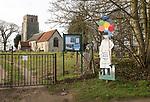 Church of Saint Peter, Blaxhall, Suffolk, England, UK  open sign