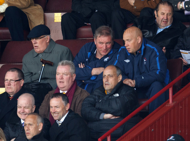 Ally McCoist and Kenny McDowall in the stand
