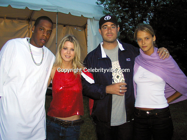 Jay Z, Tara Reid, Carson Daly and Carmen Kass..Jay Z's Fourth of July Party..Jay Z Estate.South Hampton, NY, USA.Monday, July 3, 2000.Photo by Celebrityvibe.com.To license this image please call (212) 410 5354; or.Email: sales@celebrityvibe.com ;.Website: www.celebrityvibe.com.