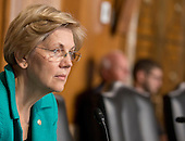 United States Senator Elizabeth Warren (Democrat of Massachusetts) attends a hearing of the US Senate Committee on Energy and Natural Resources on Tuesday, October 6, 2015.<br /> Credit: Ron Sachs / CNP