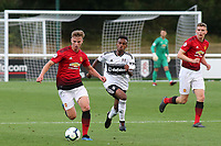 George Tanner of Manchester United U23's races upfield during Fulham Under-23 vs Manchester United Under-23, Premier League 2 Football at Motspur Park on 10th August 2018