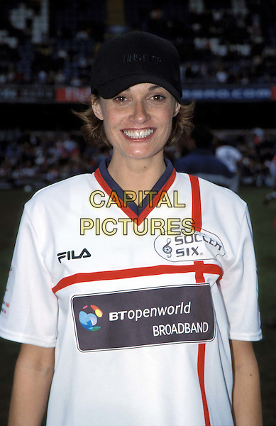 SARAH PARISH..Music Industry Soccer Six Tournament at Stamford Bridge.  ..Ref: 11720..footie kit, half length, half-length..www.capitalpictures.com..sales@capitalpictures.com..©Capital Pictures