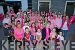 PINK LADY: Andrea Hogan (seated front) with her friends and family who launched her long locks to be cut at McElligotts Bar,Ardfert on Friday 27th June 2014 to make awareness on BReast Cancer and to raise funds for the cancer cause.