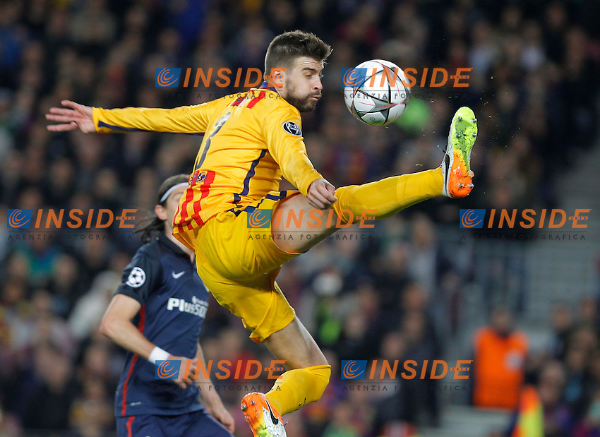 gerard pique (barca)<br /> <br />  <br /> Barcellona 05-04-2016 <br /> Football Calcio 2015/2016 Champions League <br /> Barcellona - Atletico Madrid Quarti di finale<br /> Foto Panoramic / Insidefoto <br /> ITALY ONLY