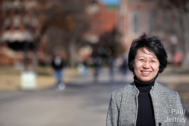 The Rev. Fuxia Wang is a United Methodist missionary, serving as a church and community worker on the staff of the Wesley Center at the University of Oklahoma in Norman, where she works with international students.